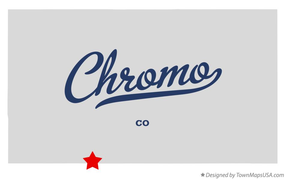 Map of Chromo Colorado CO
