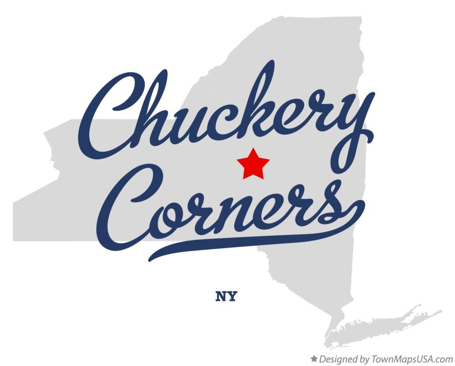 Map of Chuckery Corners New York NY