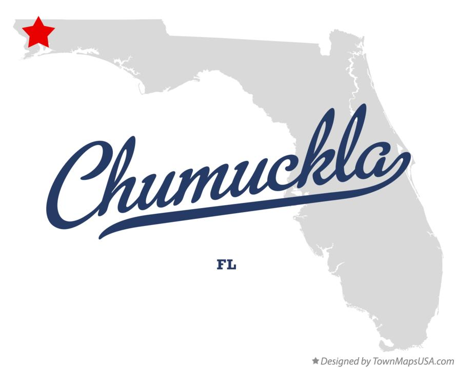 Map of Chumuckla Florida FL