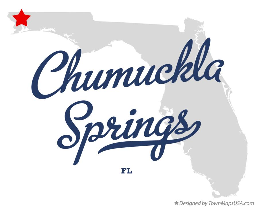 Map of Chumuckla Springs Florida FL