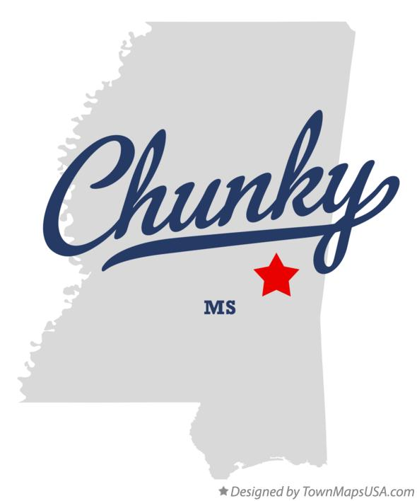 Map of Chunky Mississippi MS