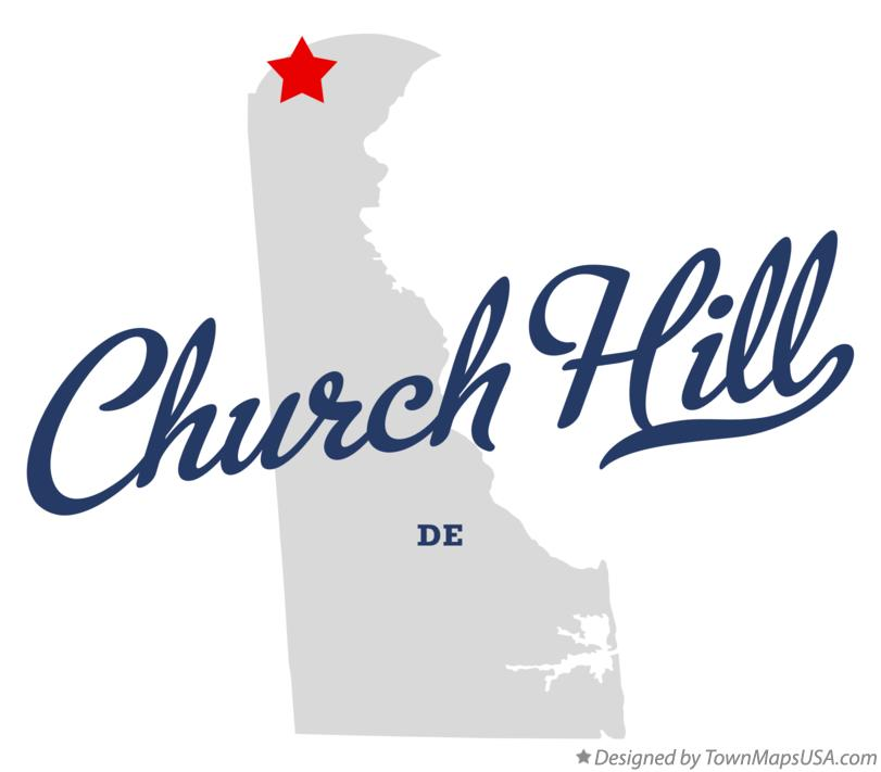 Map of Church Hill Delaware DE