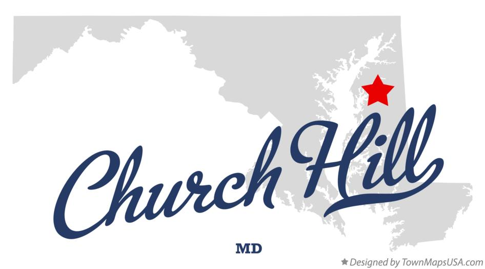 Map of Church Hill Maryland MD