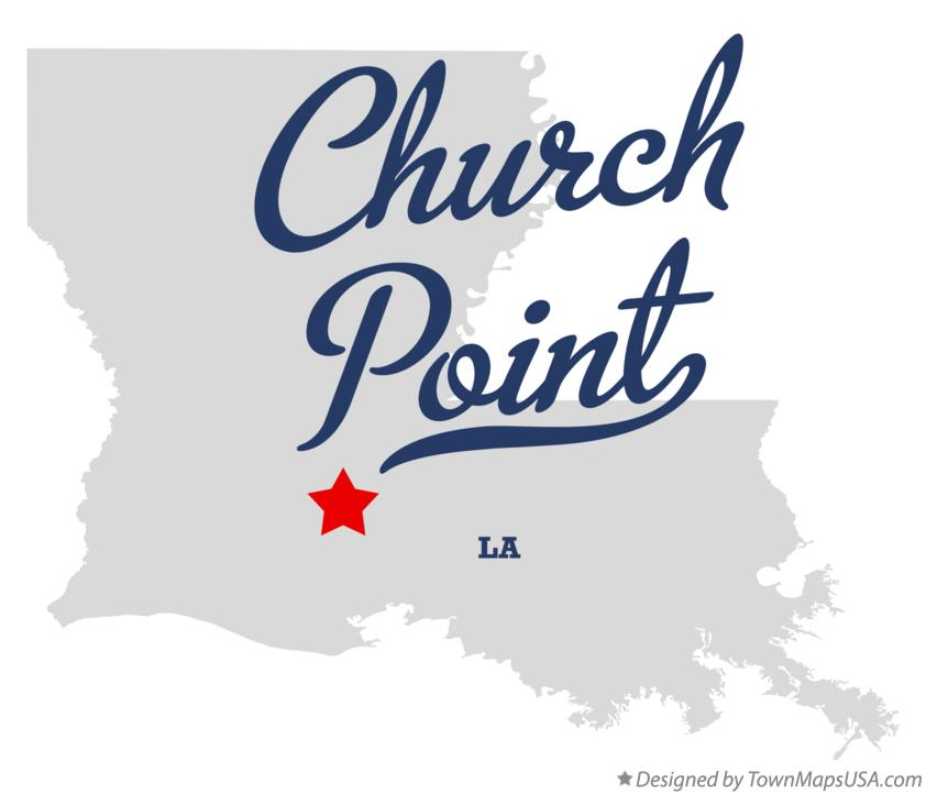 Map of Church Point Louisiana LA