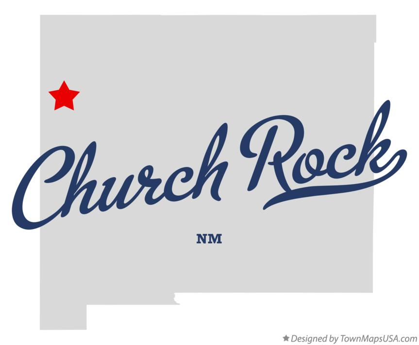 Map of Church Rock New Mexico NM