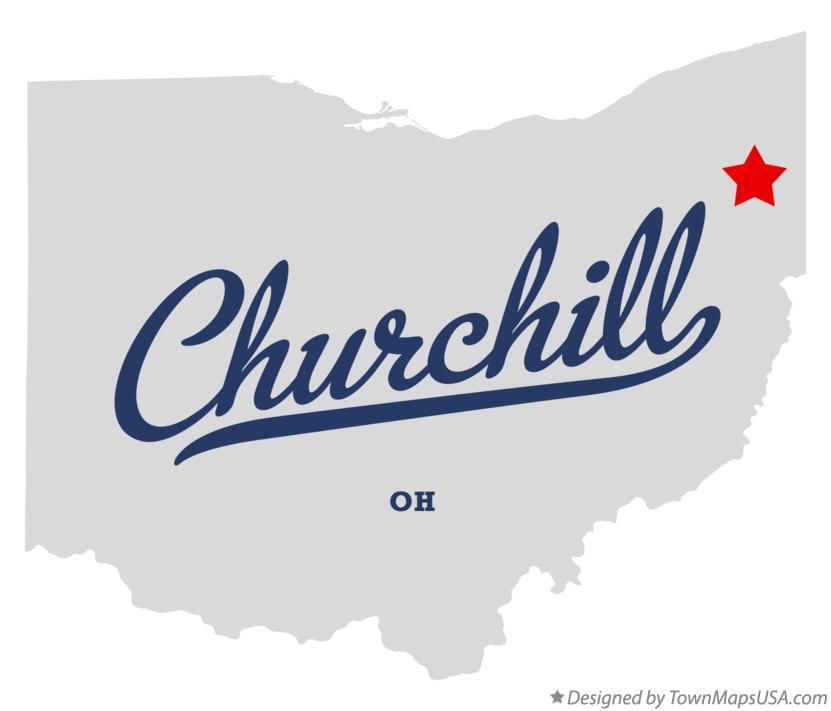 Map of Churchill Ohio OH