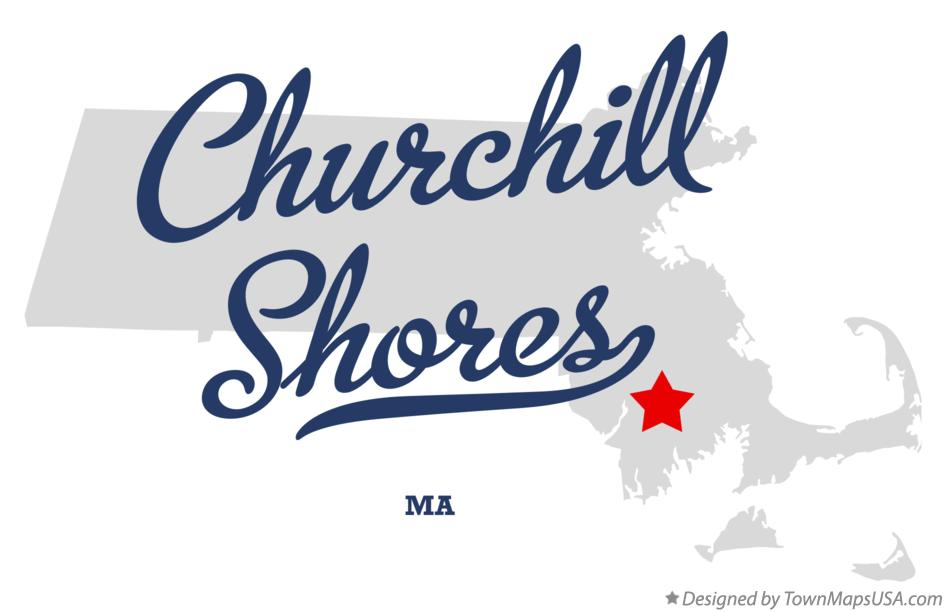 Map of Churchill Shores Massachusetts MA