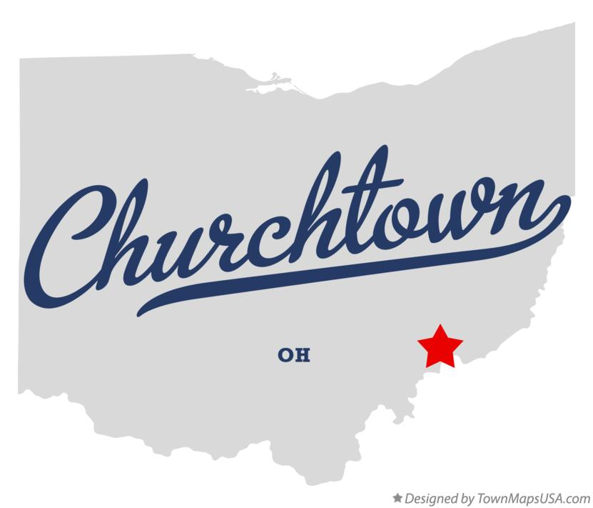 Map of Churchtown Ohio OH