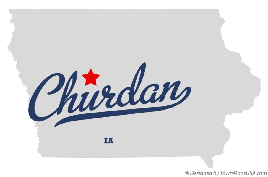 Map of Churdan Iowa IA