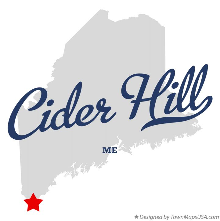 Map of Cider Hill Maine ME