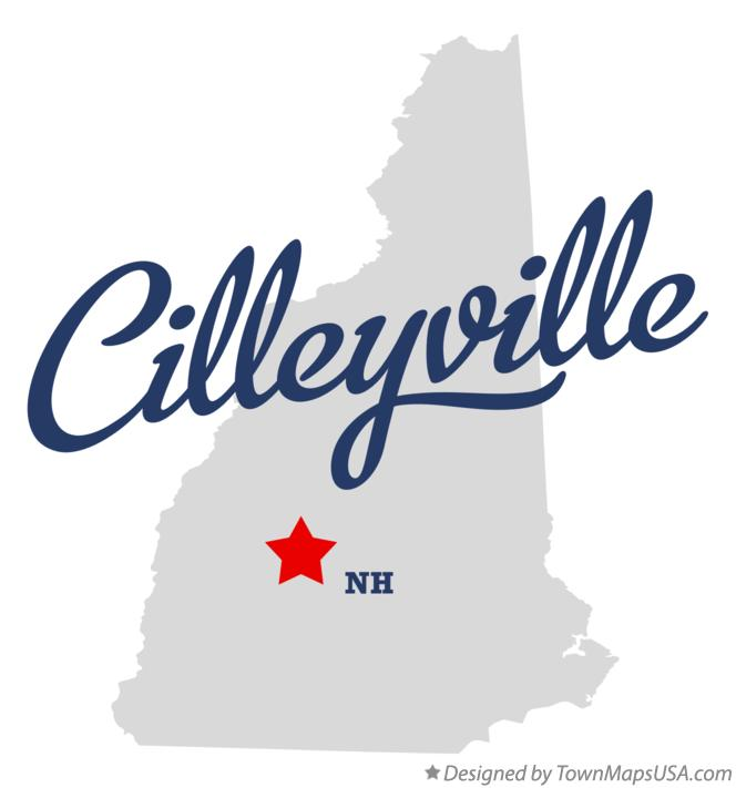 Map of Cilleyville New Hampshire NH