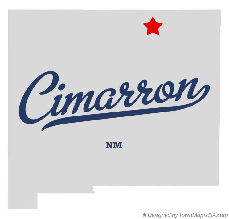 Map of Cimarron New Mexico NM