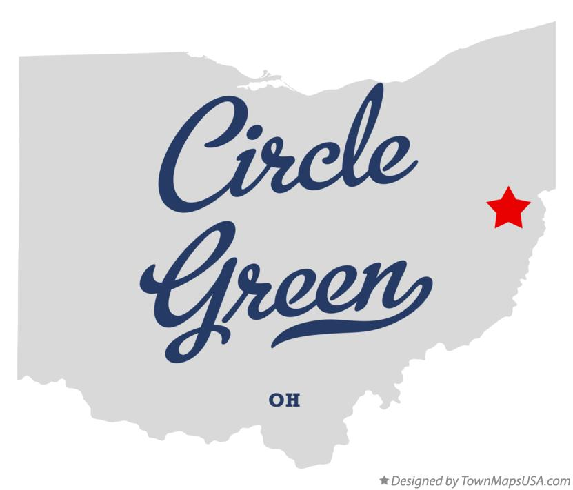 Map of Circle Green Ohio OH