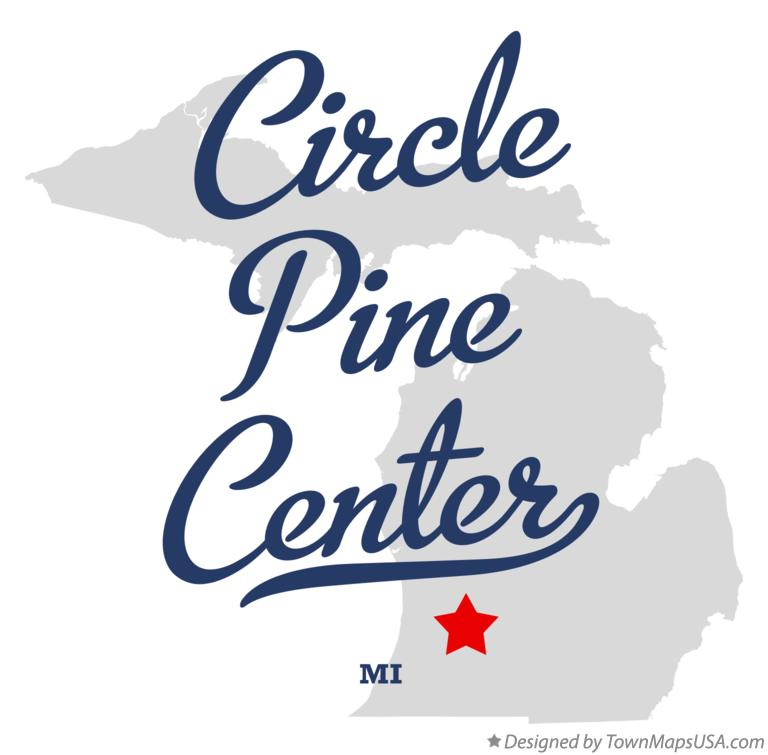 Map of Circle Pine Center Michigan MI