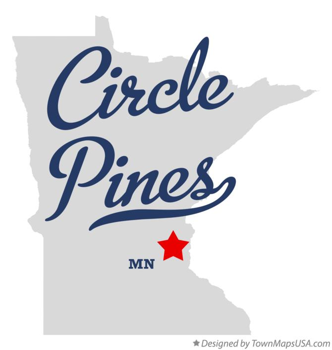 Map of Circle Pines Minnesota MN