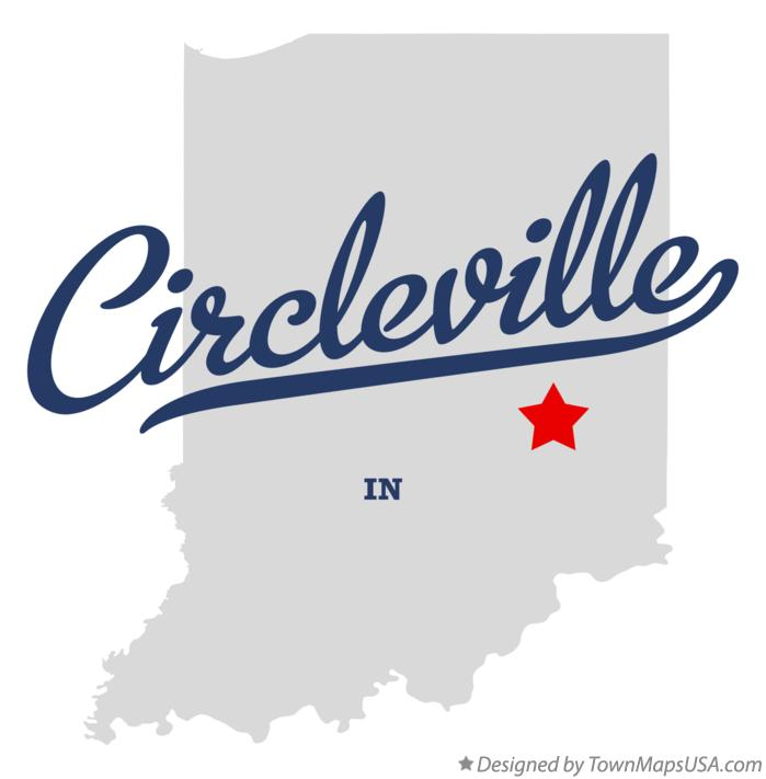 Map of Circleville Indiana IN