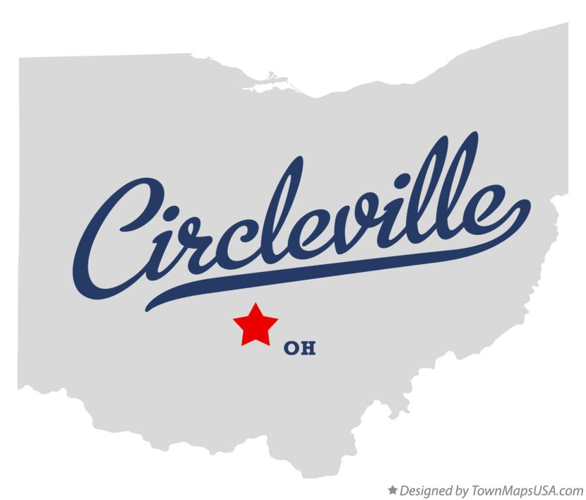 Map of Circleville Ohio OH