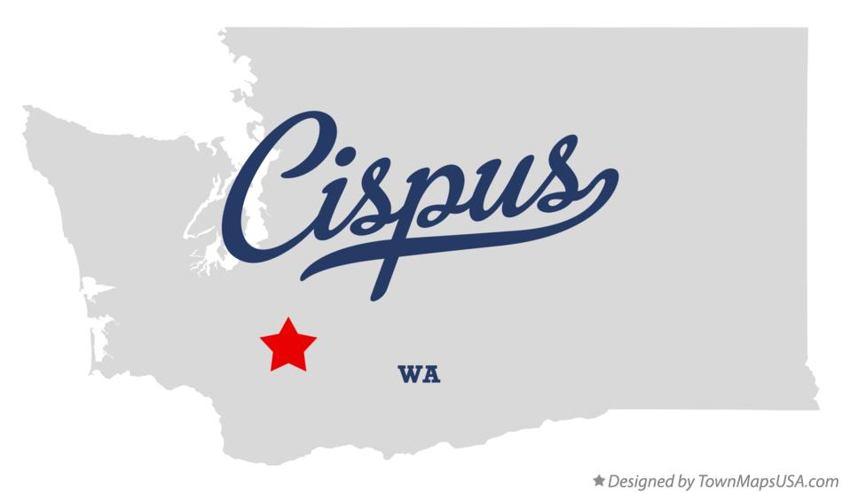 Map of Cispus Washington WA