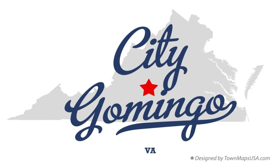 Map of City Gomingo Virginia VA
