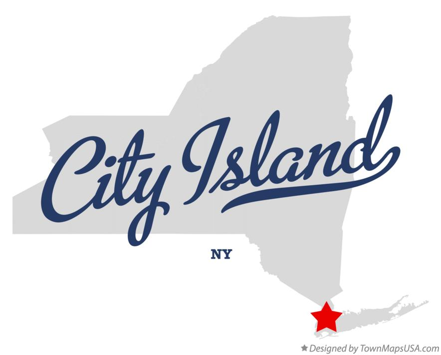 Map of City Island New York NY