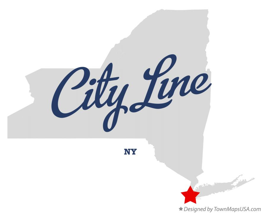 Map of City Line New York NY