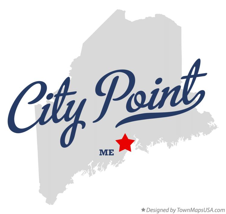 Map of City Point Maine ME