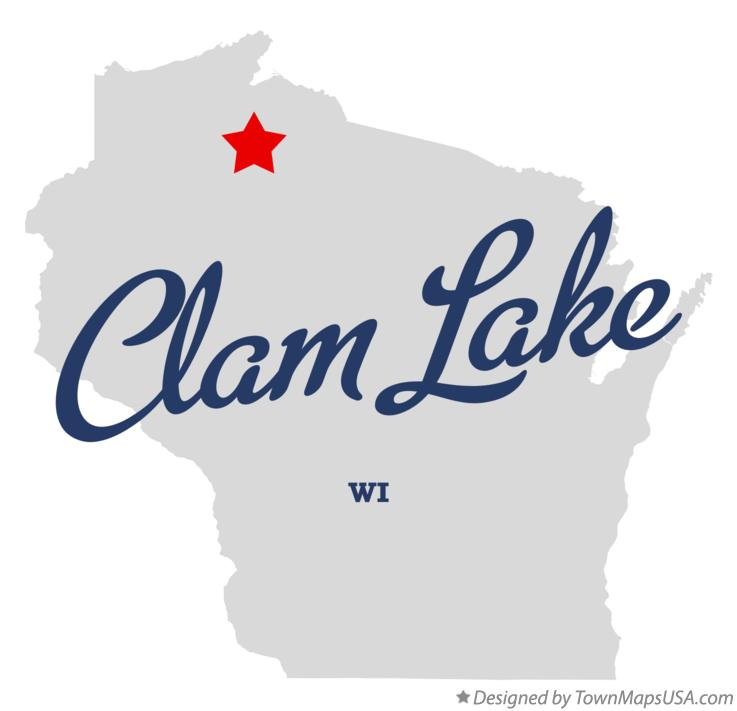 Map of Clam Lake Wisconsin WI