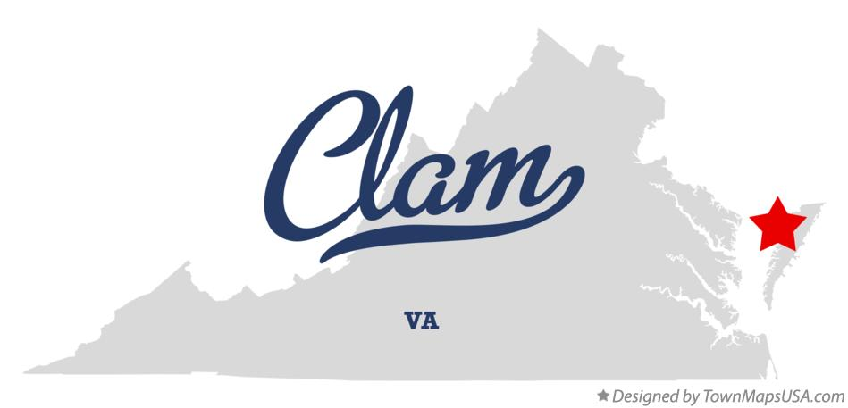 Map of Clam Virginia VA