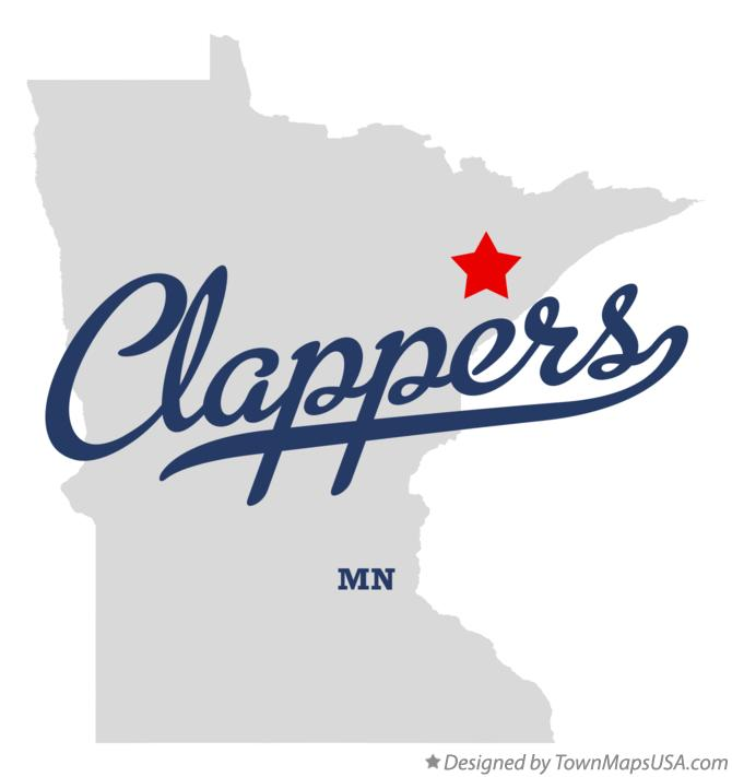 Map of Clappers Minnesota MN