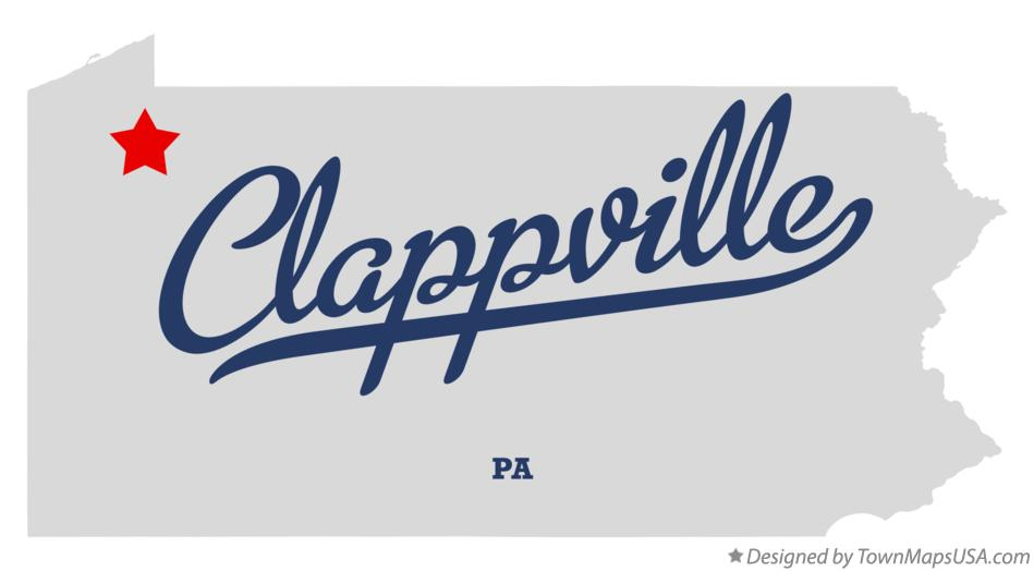 Map of Clappville Pennsylvania PA