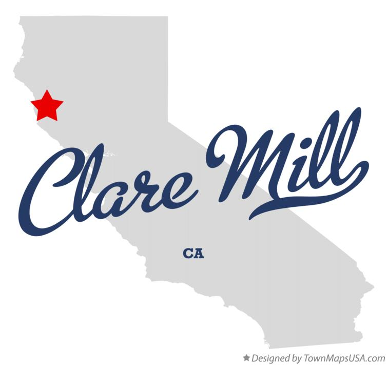 Map of Clare Mill California CA