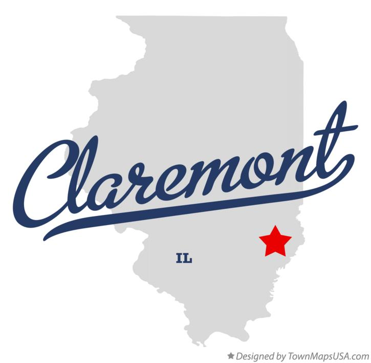 Map of Claremont Illinois IL