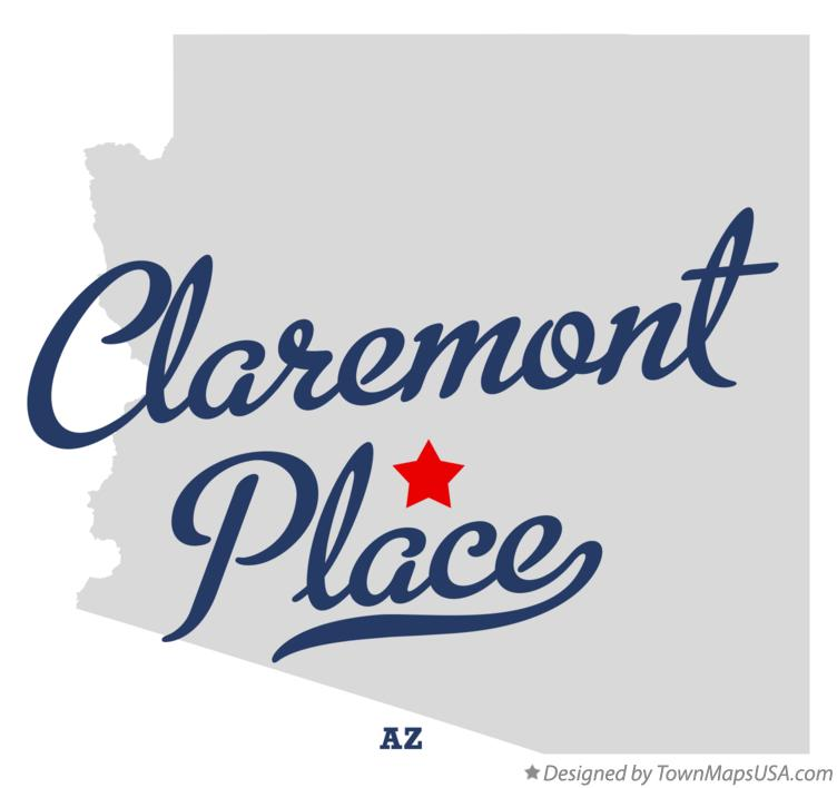 Map of Claremont Place Arizona AZ