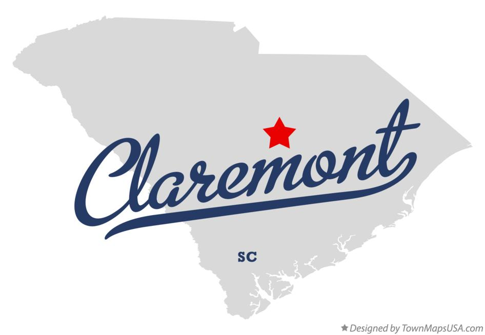 Map of Claremont South Carolina SC