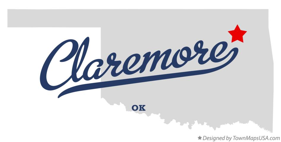Map of Claremore Oklahoma OK