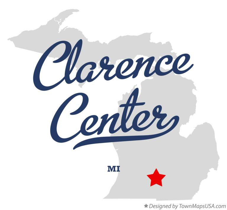 Map of Clarence Center Michigan MI