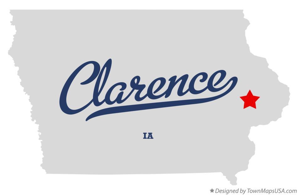 Map of Clarence, IA, Iowa