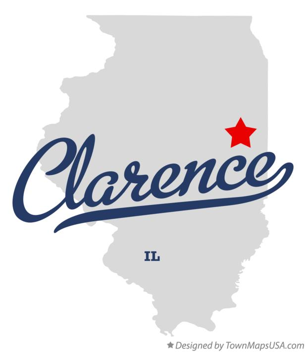 Map of Clarence Illinois IL