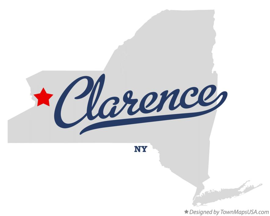 Map of Clarence New York NY