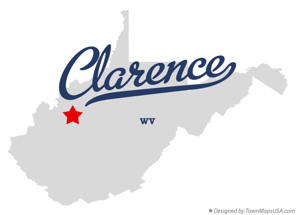 Map of Clarence West Virginia WV