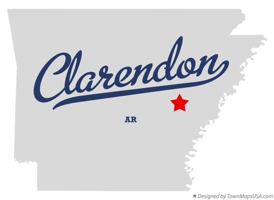 Map of Clarendon Arkansas AR