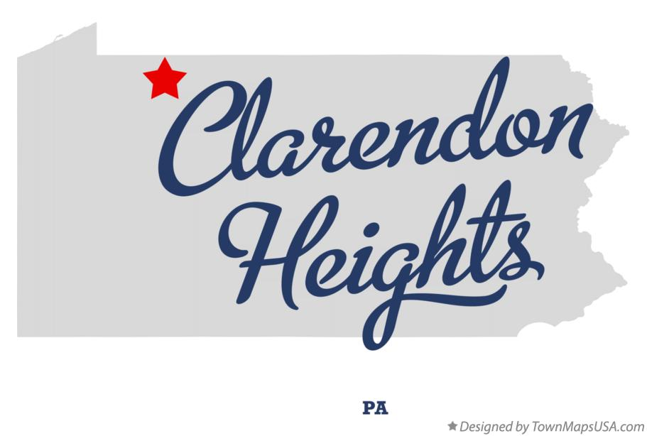 Map of Clarendon Heights Pennsylvania PA