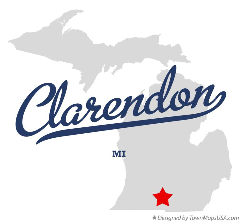 Map of Clarendon Michigan MI