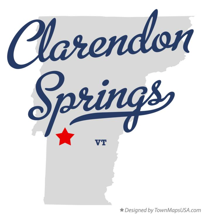 Map of Clarendon Springs Vermont VT