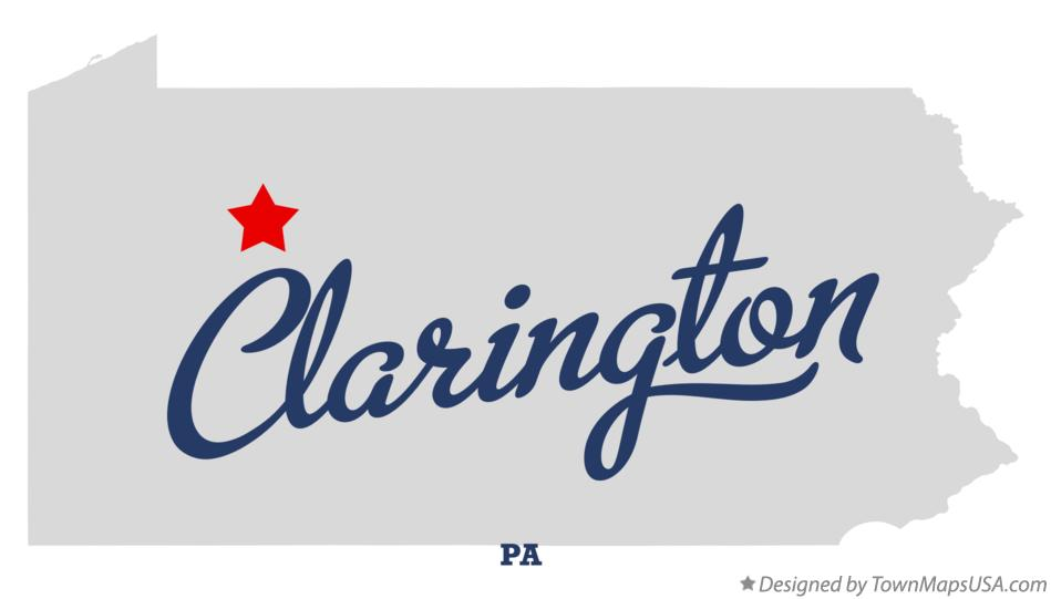 Map of Clarington Pennsylvania PA