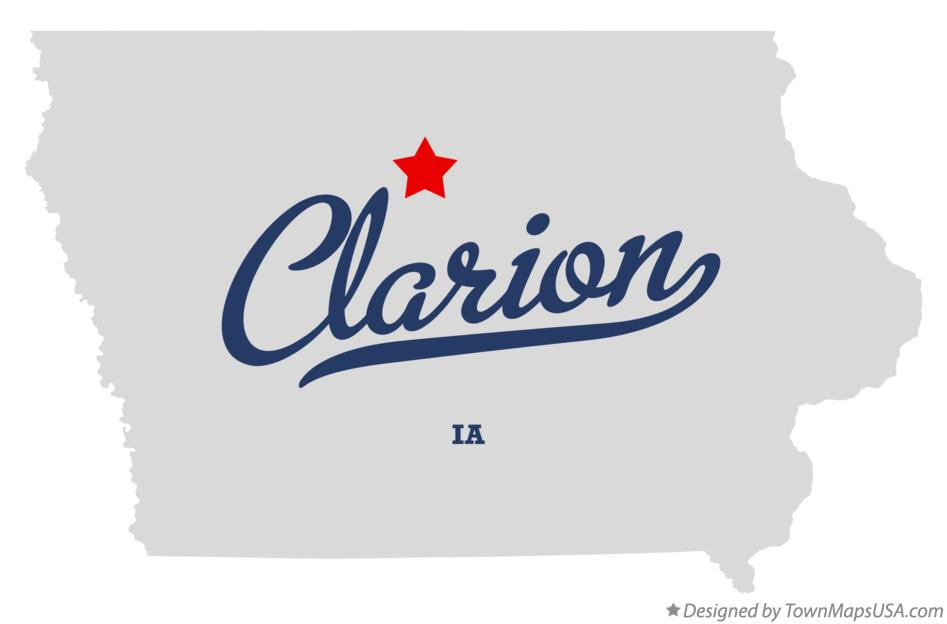 Map of Clarion Iowa IA