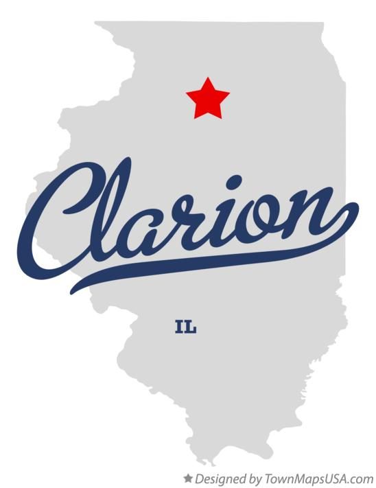 Map of Clarion Illinois IL