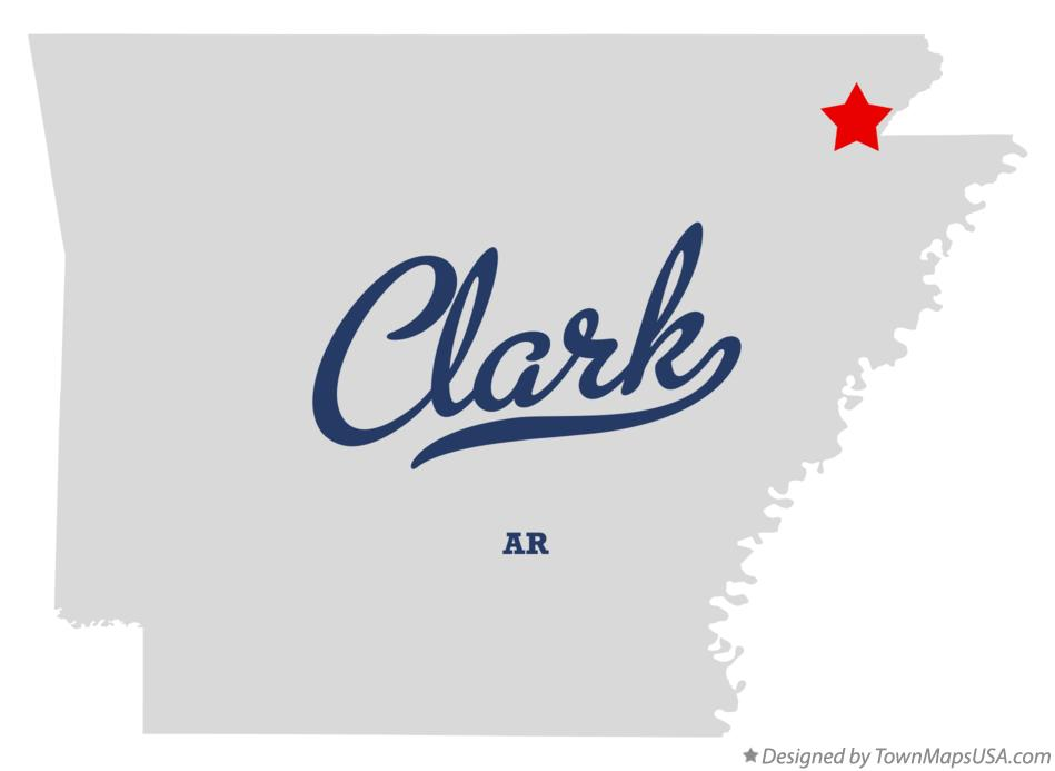 Map of Clark Arkansas AR