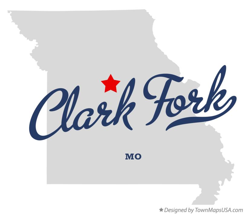 Map of Clark Fork Missouri MO