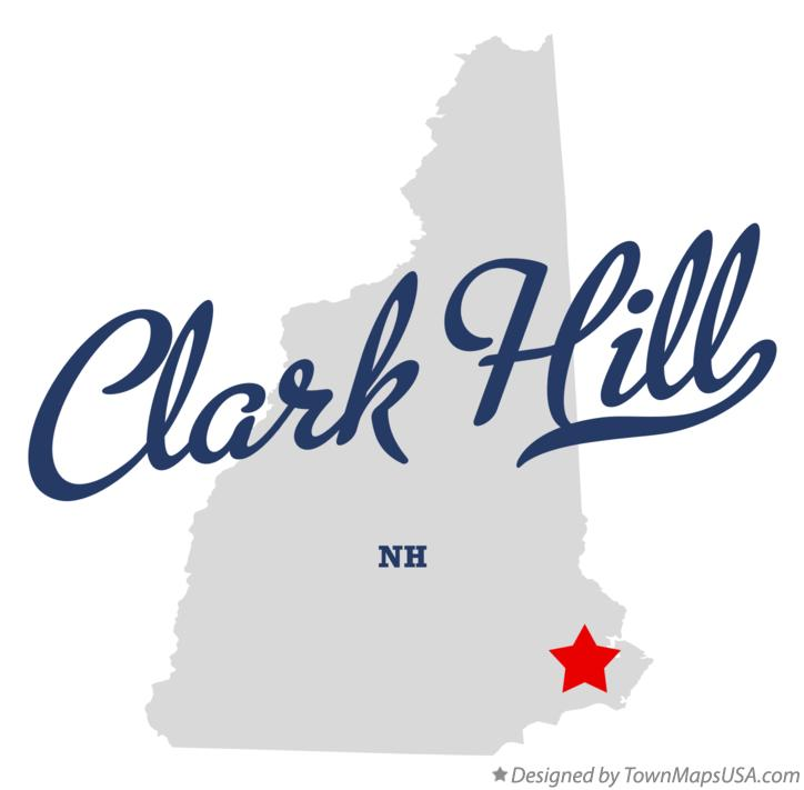 Map of Clark Hill New Hampshire NH